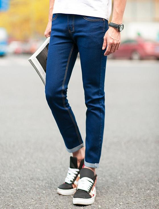 Зимние дизайнерские джинсы для мужчин - 2