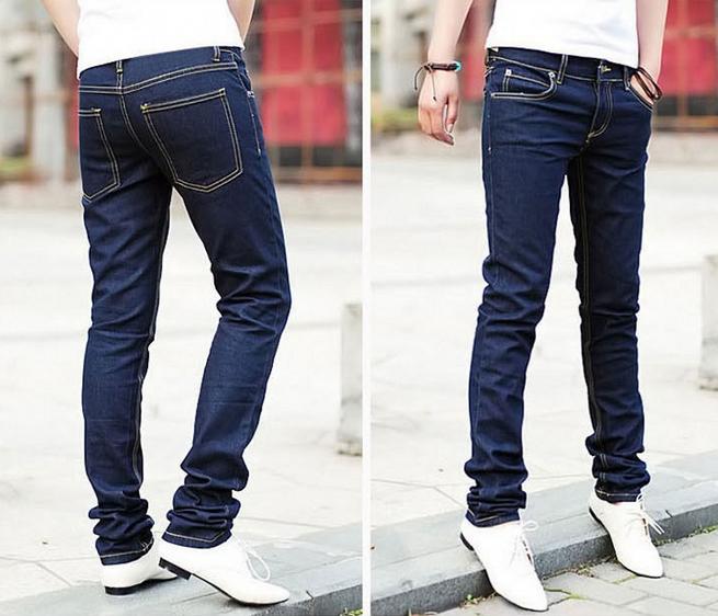 Модные обтягивающие джинсы для мужчин  - 2