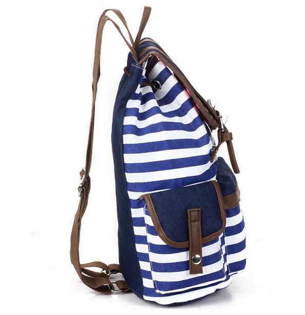Полосатый рюкзак для женщин - 5