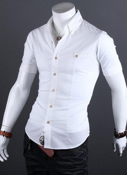 Европейский стиль, модная рубашка  - 5
