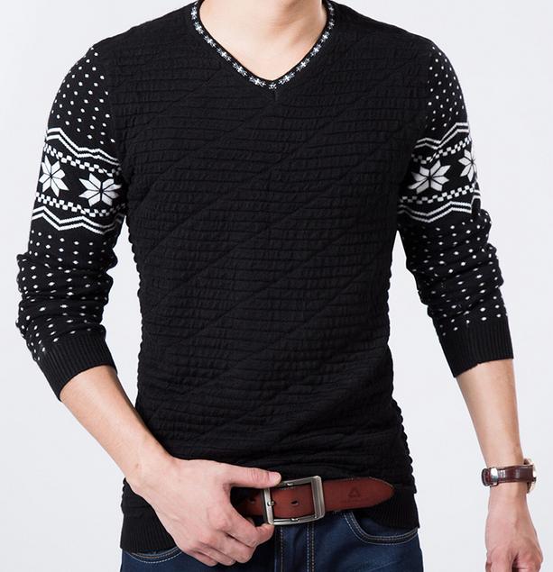 Осень и зима мода, мужской свитер  - 4