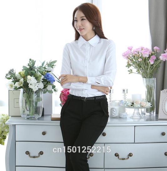 Новая белая рубашка для женщин  - 3