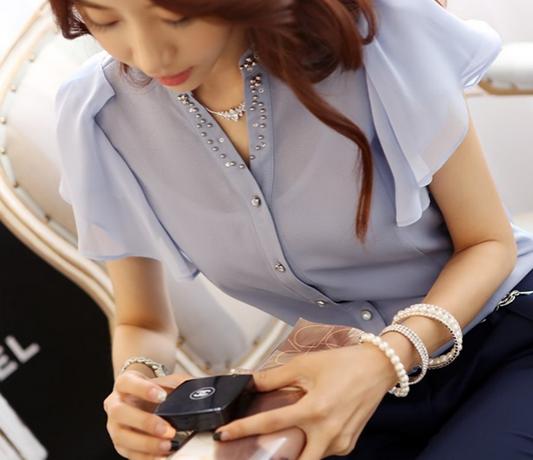 Летняя блузка с коротким руковом для женщин  - 9