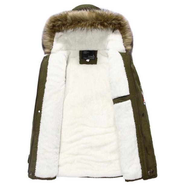 Мужские модные парки, меховая модная куртка  - 1