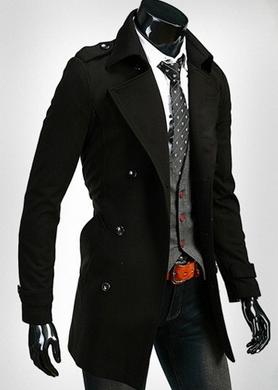 Стильное мужское пальто, зимняя и весенняя  - 2