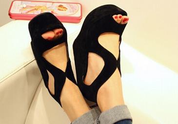 Новые водонепроницаемые туфли с высоким каблуком для женщин  - 3