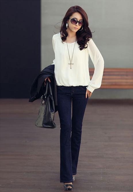 Новая блузка с красивым рукавом для женщин  - 6