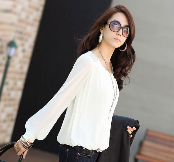Новая блузка с красивым рукавом для женщин  - 4