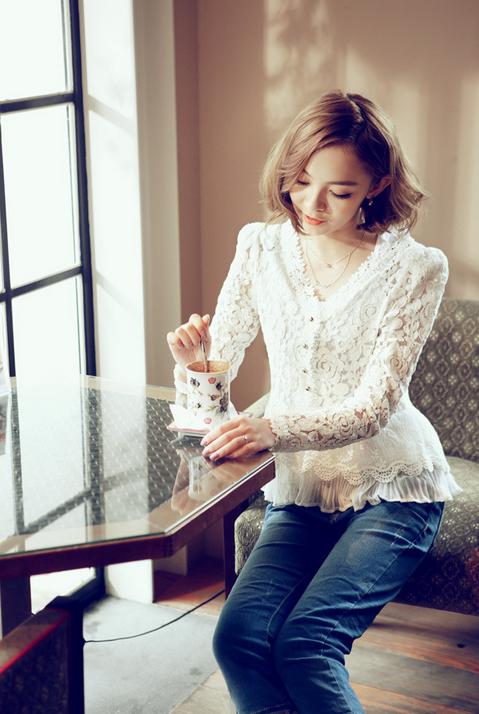 Тонкая прозрачная блузка для женщин  - 3
