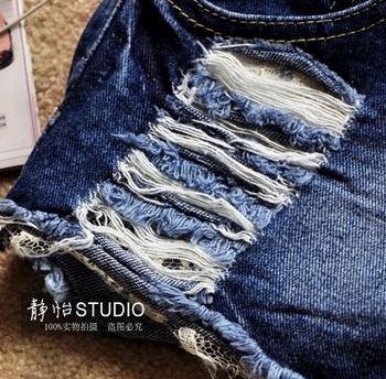 Модные джинсовые шорты для женщин  - 4