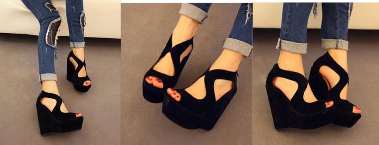 Новые водонепроницаемые туфли с высоким каблуком для женщин  - 2