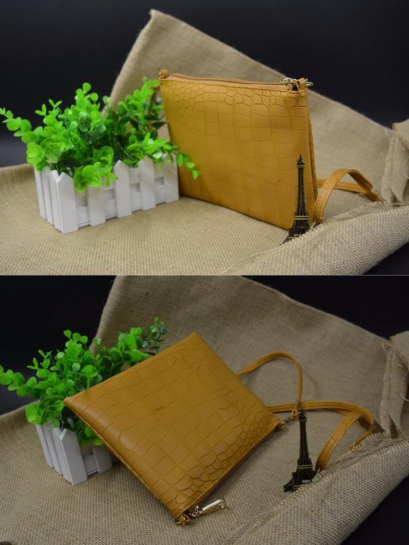 Натуральная кожа, сумка через плечо для женщин - 6