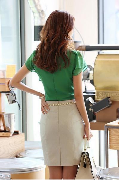 Летняя блузка с коротким руковом для женщин  - 3