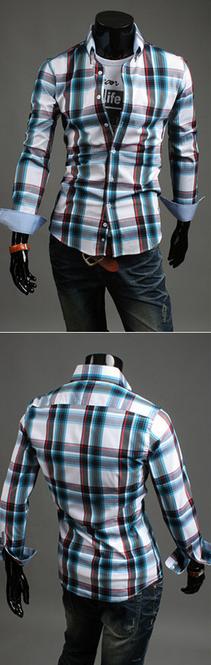 Модная мужская рубашка для мужчин - 1