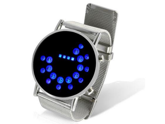 Инновационная японский стильный цифровой дисплей зеркало синий из светодиодов часы для женщины или мужчины бесплатная доставка - 1