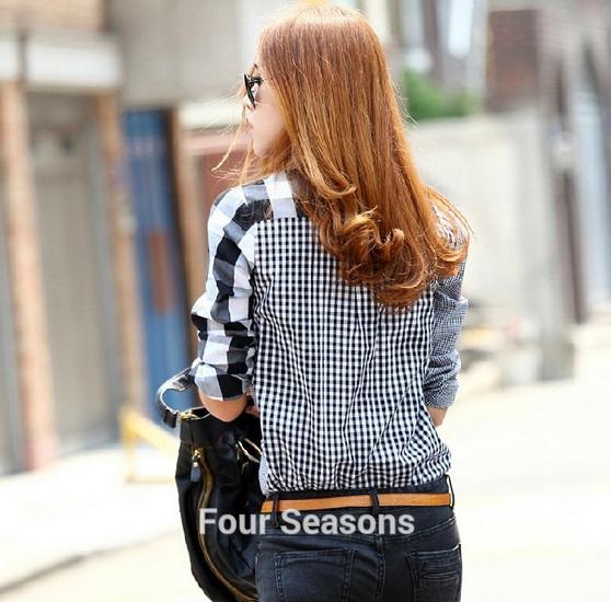 Асимметричная рубашка с длинными рукавами для женщин  - 3