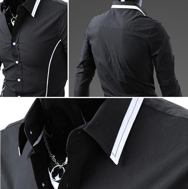 Тонкая стильная рубашка для мужчин  - 5