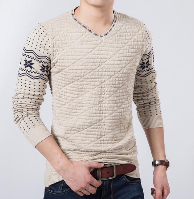 Осень и зима мода, мужской свитер  - 7