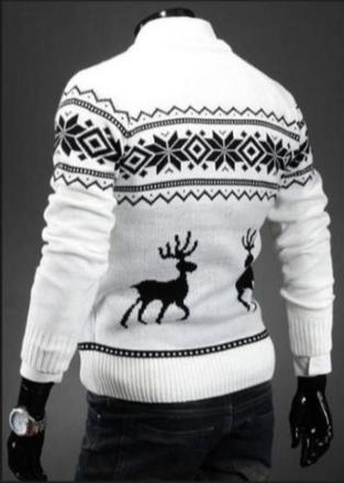 Новый тёплый свитер для мужчин  - 2