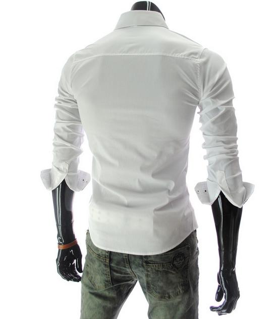 Новая модная рубашка с длинными рукавами для мужчин  - 1