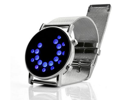 Инновационная японский стильный цифровой дисплей зеркало синий из светодиодов часы для женщины или мужчины бесплатная доставка - 2