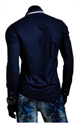DesignSlim мужские рубашки с длинным рукавом  - 10