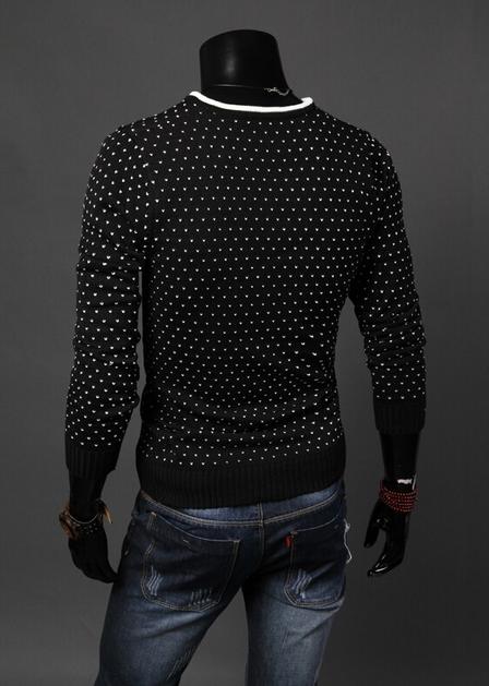 Мужской классический свитер для мужчин  - 4