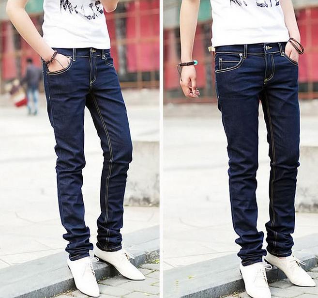 Модные обтягивающие джинсы для мужчин  - 1