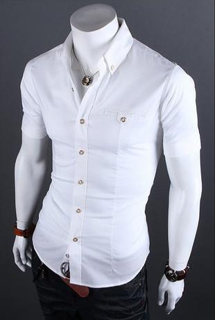 Европейский стиль, модная рубашка  - 4