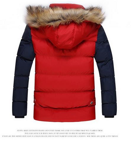Модная мужская куртка, тёплая зима  - 6