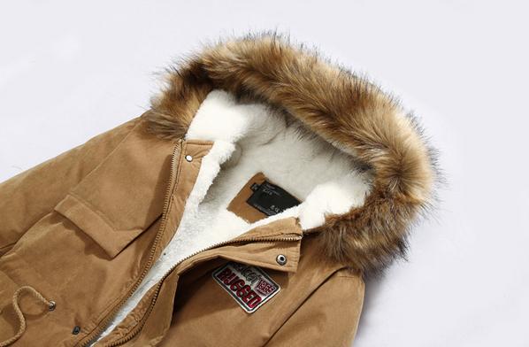 Мужские модные парки, меховая модная куртка  - 4