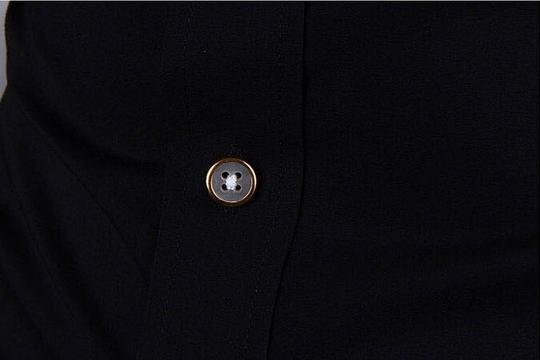 Летняя тонкая рубашка для мужчин с коротким рукавом  - 12