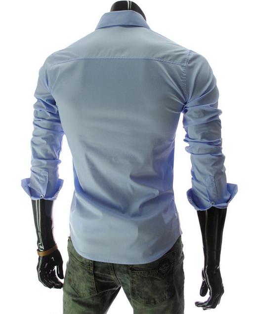 Новая модная рубашка с длинными рукавами для мужчин  - 2
