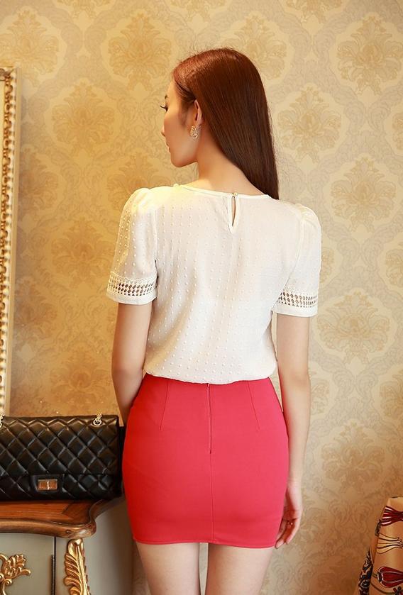Твёрдая новая блузка для женщин  - 6