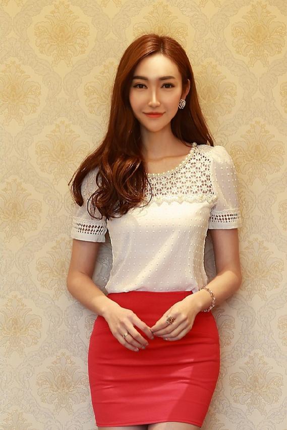 Твёрдая новая блузка для женщин  - 4