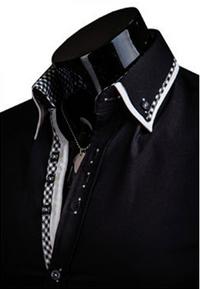 DesignSlim мужские рубашки с длинным рукавом  - 3