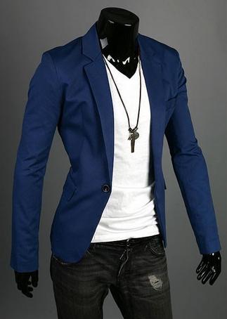 Тонкий стильный бизнес костюм для мужчин  - 2