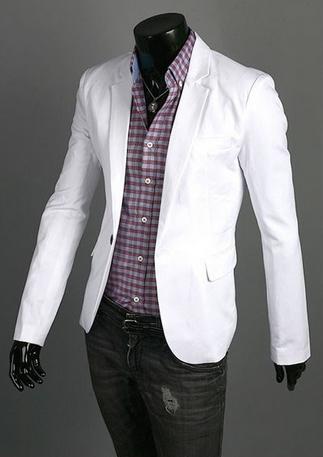 Тонкий стильный бизнес костюм для мужчин  - 1