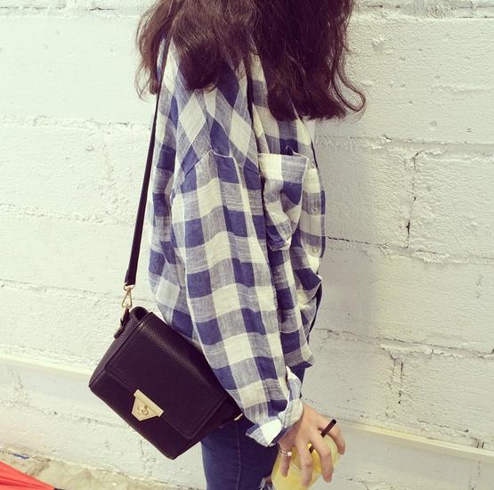 Маленькая сумка посыльного сумка через плечо для женщин - 11
