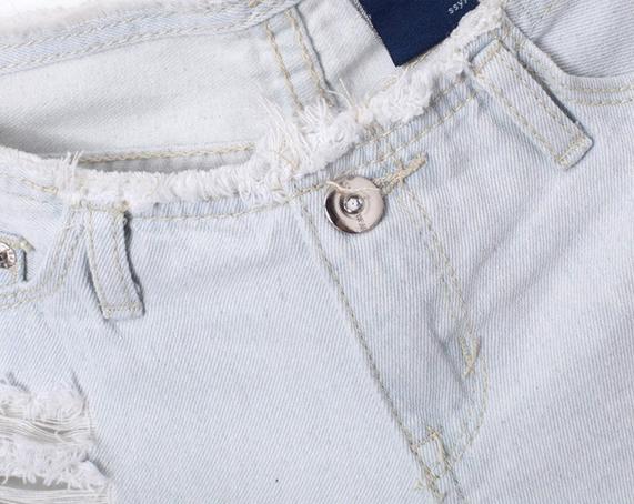 Сексуальные мини шорты с талией  - 6