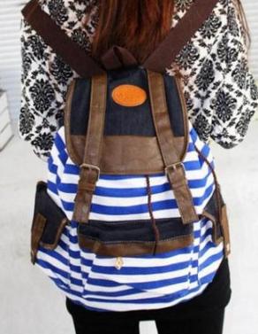 Полосатый рюкзак для женщин - 2
