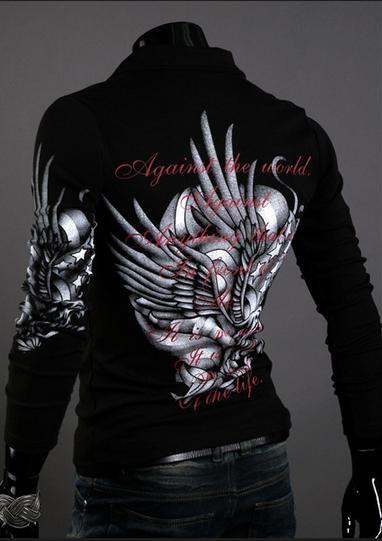 Мужская футболка с длинным рукавом, новый бренд  - 1