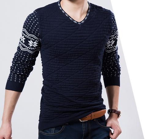 Осень и зима мода, мужской свитер  - 3