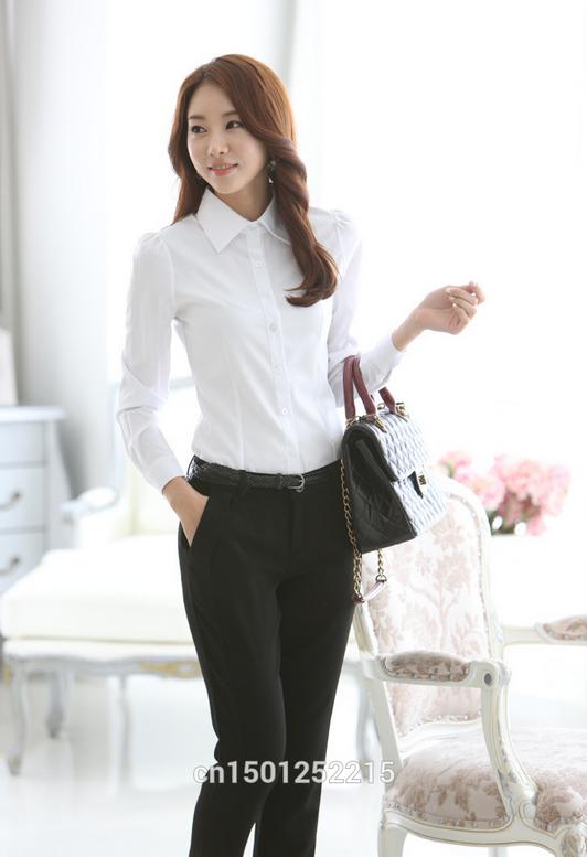 Новая белая рубашка для женщин  - 1