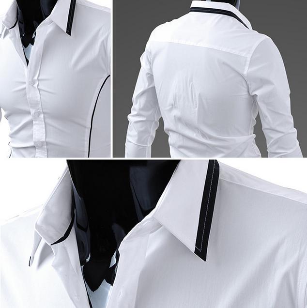Тонкая стильная рубашка для мужчин  - 2