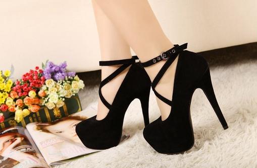 Сексуальные туфли с ремешком для женщин  - 5