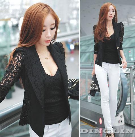Офисная блузка с длинным рукавом для женщин  - 3