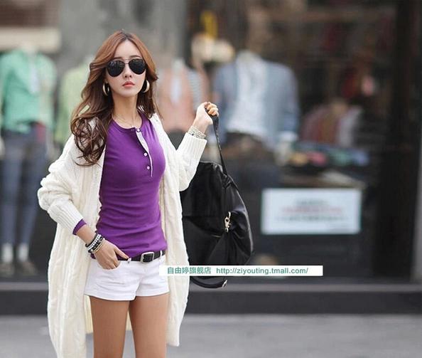 Женская осенняя футболка с длинным рукавом  - 5