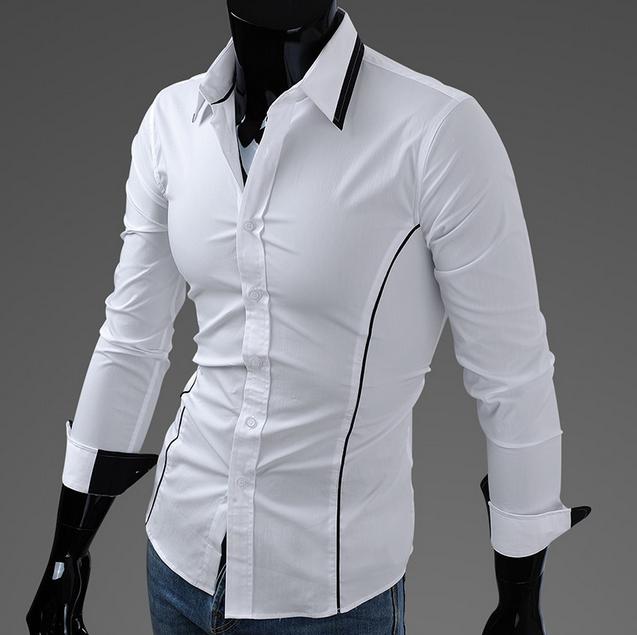 Тонкая стильная рубашка для мужчин  - 1