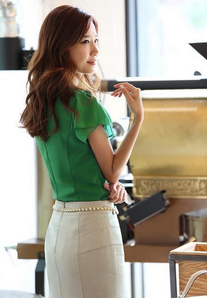 Летняя блузка с коротким руковом для женщин  - 2